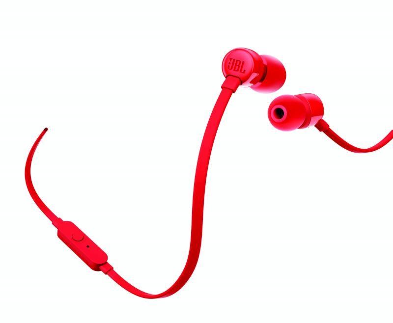 Špuntová sluchátka Sluchátka JBL T110 červená