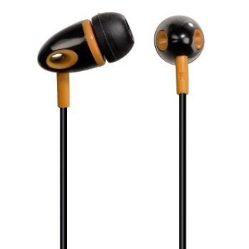 Špuntová sluchátka Sluchátka ME-299, silikonové špunty, černá/oranžová