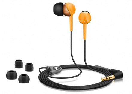 Špuntová sluchátka Sluchátka SENNHEISER, CX 215 orange