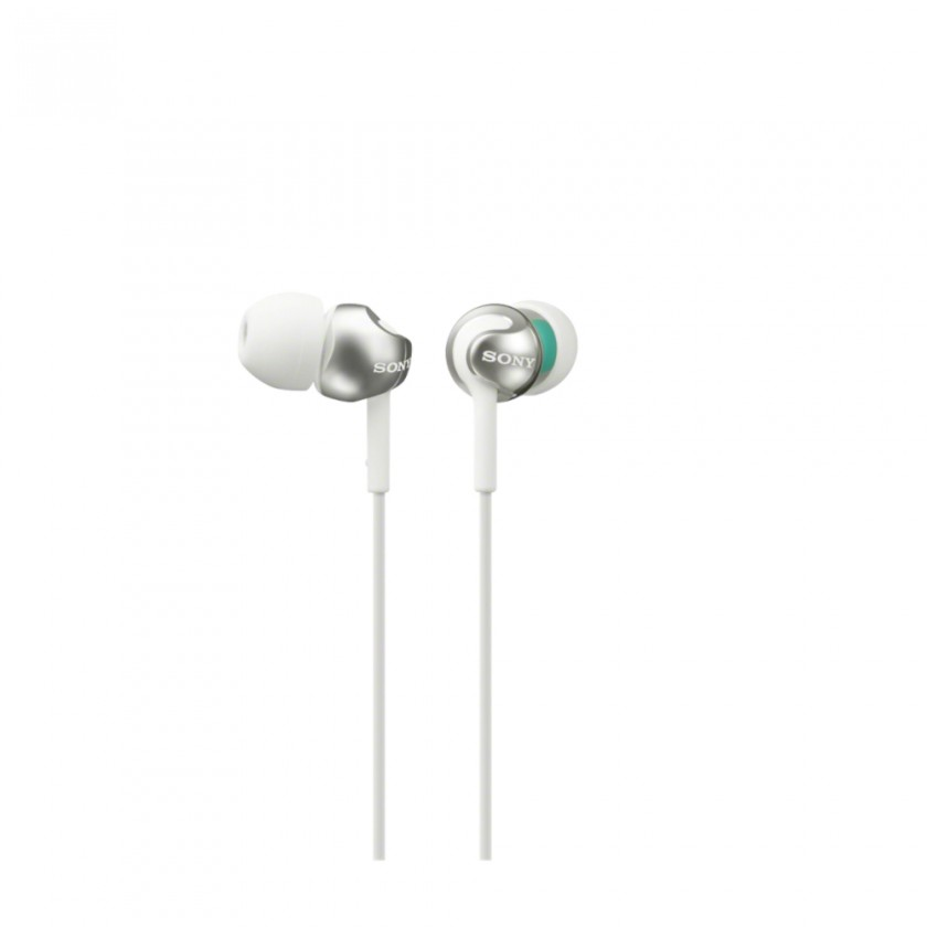 Špuntová sluchátka Sony MDR-EX110LP, bílá