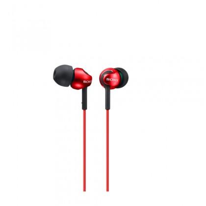 Špuntová sluchátka Sony MDR-EX110LP, červená
