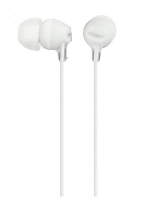 Špuntová sluchátka Sony MDR-EX15LP, bílá