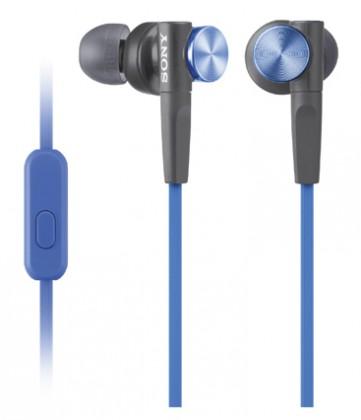Špuntová sluchátka Sony MDR-XB50AP Blue