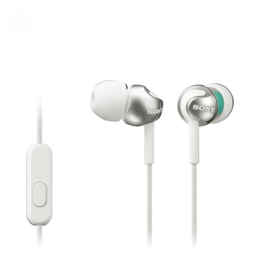 Špuntová sluchátka Sony Sluchátka MDR-EX110AP bílá