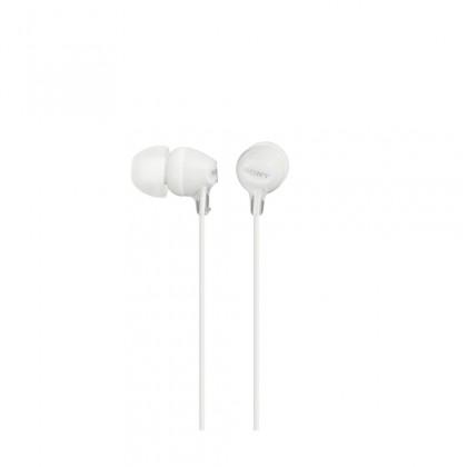 Špuntová sluchátka Sony Sluchátka MDR-EX15AP bílá