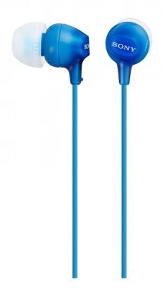 Špuntová sluchátka Sony Sluchátka MDR-EX15AP modrá