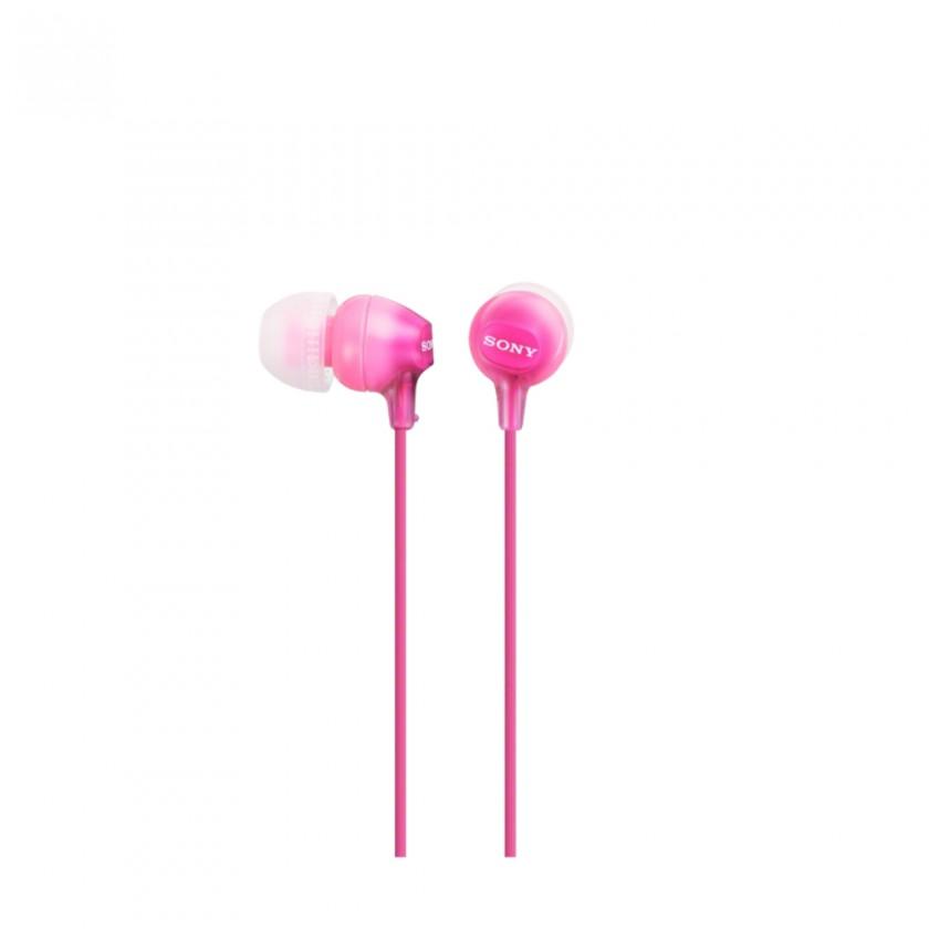 Špuntová sluchátka Sony Sluchátka MDR-EX15AP růžová