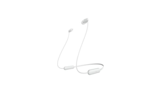 Špuntová sluchátka Sony WI-C200 bílá