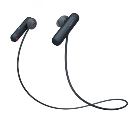 Špuntová sluchátka Sportovní bezdrátová sluchátka Sony WI-SP500B, černá