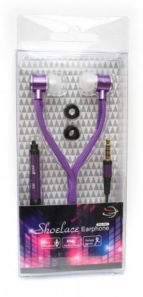 Špuntová sluchátka Špuntová sluchátka s mikr. 3,5mm JACK - fialová