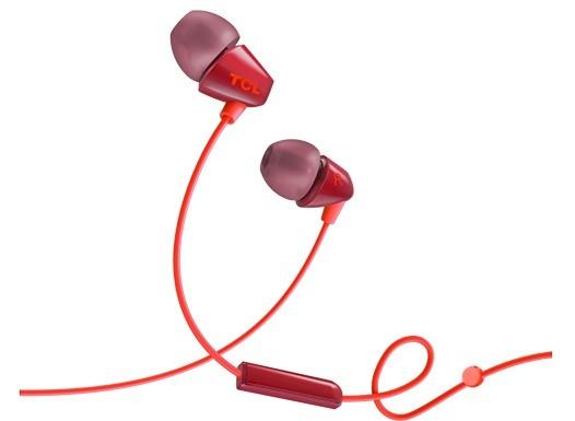 Špuntová sluchátka TCL SOCL100OR sluchátka do uší, drátová, mikrofon, oranžová