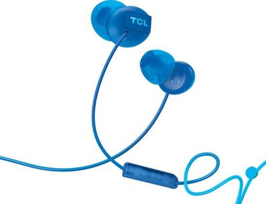 Špuntová sluchátka TCL SOCL300BL sluchátka do uší, drátová, mikrofon, modrá