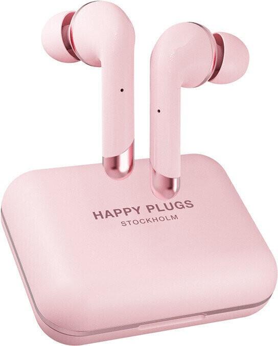Špuntová sluchátka True Wireless sluchátka Happy Plugs Air 1 Plus In-Ear, růžovo zl