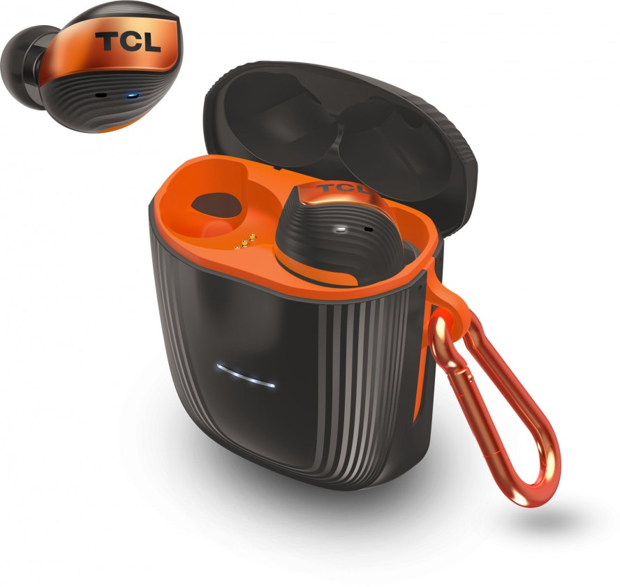 Špuntová sluchátka True wireless sluchátka TCL ACTV500TWS černo-oranžová