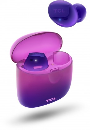 Špuntová sluchátka True wireless sluchátka TCL SOCL500TWS fialová