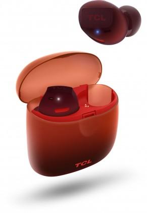 Špuntová sluchátka True wireless sluchátka TCL SOCL500TWS oranžová