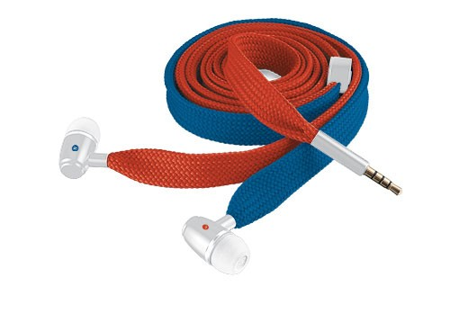 Špuntová sluchátka TRUST Sluchátka Urban Revolt Lace In-ear Headset - red & blue, šp