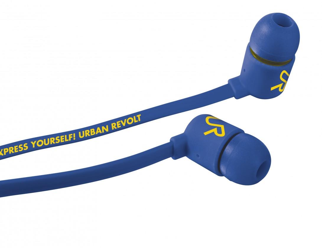 Špuntová sluchátka URBAN REVOLT Sluchátka Duga In-ear Headphone - modrá, špuntová