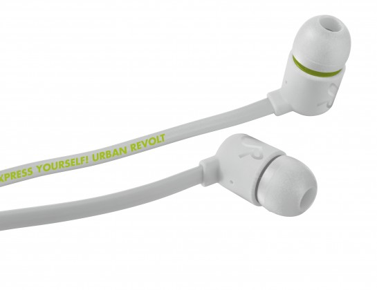 Špuntová sluchátka URBAN REVOLT Sluchátka Duga In-ear Headphone - white, špuntová