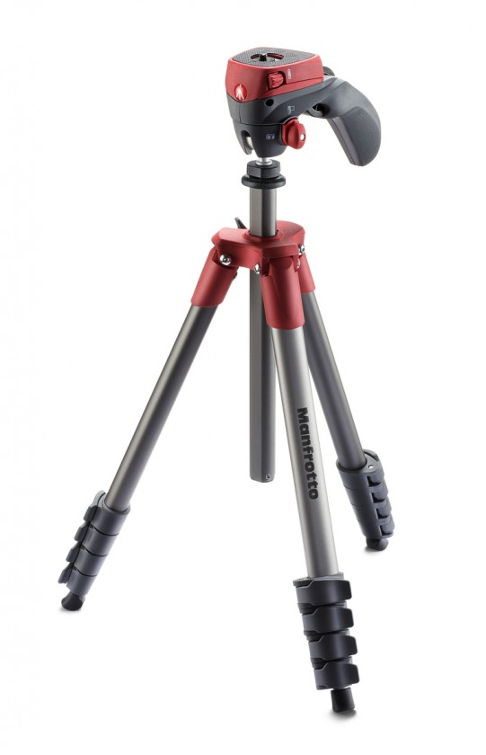 Stativy Manfrotto MK CompactACN-RD, stativ COMPACT ACTION