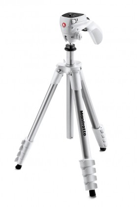 Stativy Manfrotto MK CompactACN-WH, stativ COMPACT ACTION, bílý