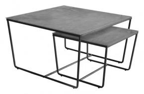 Stella - set 2 stolků, stohovatelné (černá, šedá)