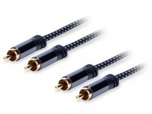 Stereo audio kabel AQ 6OKRR015, 2xRCA/2xRCA, 1,5m