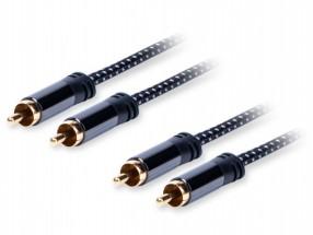 Stereo audio kabel AQ OKRR007, 2xRCA/2xRCA, 0,7m