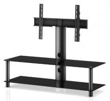 """Stolek pro TV Neo 130, max. 55"""" a 40kg, černý"""