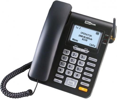 Stolní GSM Stolní GSM telefon Maxcom MM28D, černá