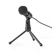 Stolní všesměrový mikrofon Nedis MICTJ100BK, černý