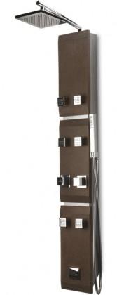 Stone 451k  Sprchový hydromasážní panel (hnědá)