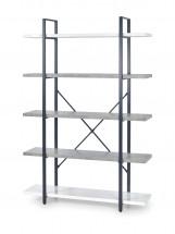 Stonno - regál vysoký (bílá/beton)