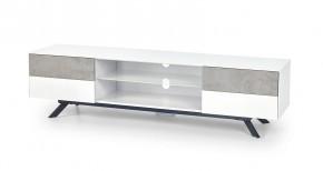 Stonno - TV stolek (bílá/beton)