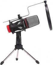 Streamovací mikrofon Marvo MIC-02, černý, s tripodem
