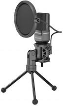 Streamovací mikrofon Marvo MIC-03, černý, s otočným tripodem