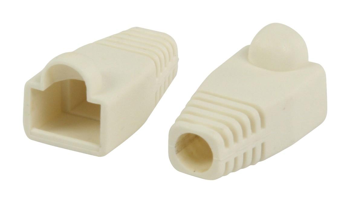 Strukturovaná kabeláž Ochranný kryt konektoru RJ45, bílý 10 ks