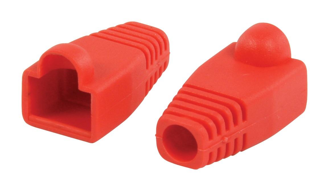Strukturovaná kabeláž Ochranný kryt konektoru RJ45, červený 10 ks
