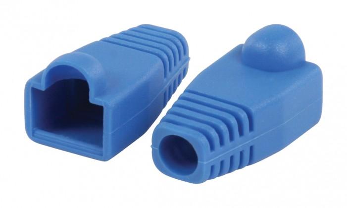 Strukturovaná kabeláž Ochranný kryt konektoru RJ45, modrý 10 ks