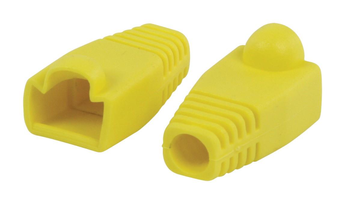 Strukturovaná kabeláž Ochranný kryt konektoru RJ45, žlutý 10 ks