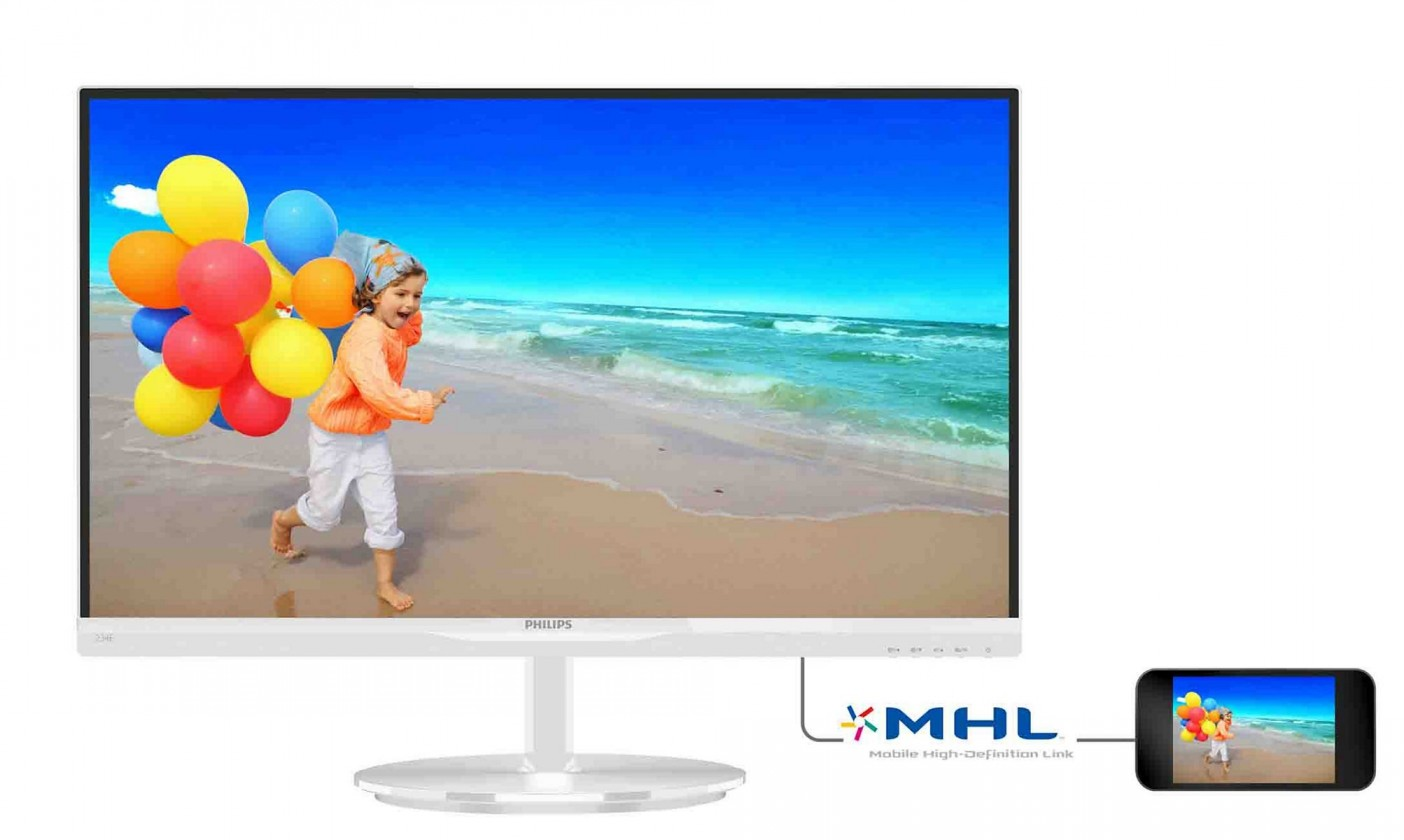 "Stylový/designový monitor 23"" Philips 234E5QHAW"