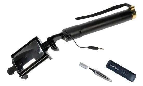 Stylusy a selfie držáky Lenspen selfie tyč s čištěním na displej a na čočku (LS-SELF-1)