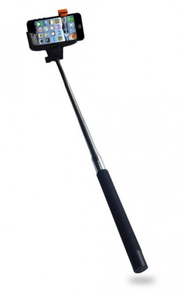 Stylusy a selfie držáky Selfie tyč C-TECH až 107cm, kovová, bluetooth, otočná 180°