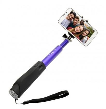 Stylusy a selfie držáky Teleskopická selfie tyč FIXED s BT spouští, modrá