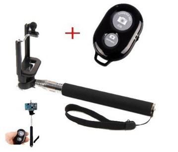 Stylusy a selfie držáky Teleskopická tyč pro selfie fotky s bluetooth ovladačem