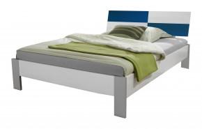 Sunny - Postel, 140x200cm (alpská bílá s modrou)