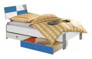 Sunny - Postel s úložným priestorom, 90x200cm (bílá s modrou)