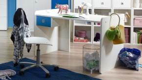 Sunny - Pracovní stůl (alpská bílá s modrou)
