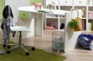 Sunny - Pracovní stůl (alpská bílá se zeleným jablkem)