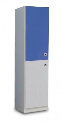 Sunny - Skříň jednodveřová (alpská bílá s modrou)
